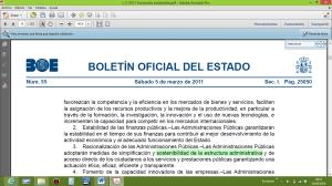 Estructura administrativa sostenible