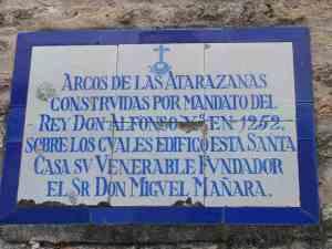 Caridad-Miguel Mañara lápida