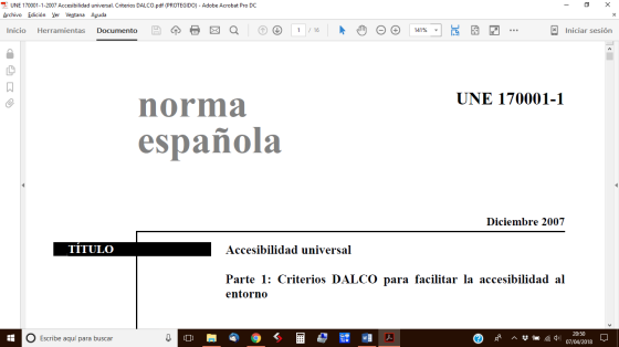 Norma UNE 170001-1